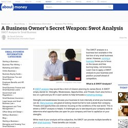 SWOT Analysis - A Business Owner's Secret Weapon
