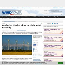 Analysis: Mexico aims to triple wind capacity