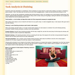 Task Analysis & Chaining - Kansas City Behavior Analysts