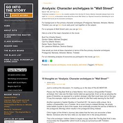 Character archetypes in WALL STREET
