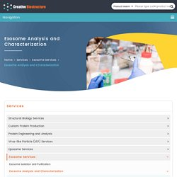 Exosome Analysis and Characterization