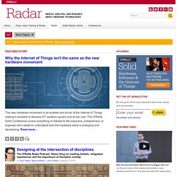 IoT analysis and commentary: O'Reilly Radar