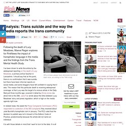Analysis: Trans suicide and the way the media reports the trans community