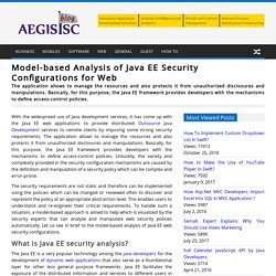 Model-based Analysis of Java EE Security Configurations for Web