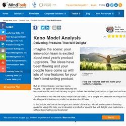 Kano Model Analysis - Creativity Tools From MindTools.com