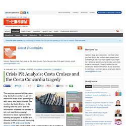 Crisis PR Analysis: Costa Cruises and the Costa Concordia tragedy
