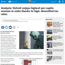 Analysis: Detroit enjoys highest per-capita revenue in state thanks to high, diversified tax rates