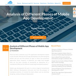 Analysis of Different Phases of Mobile App Development