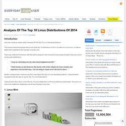Everyday Linux User: Analysis Of The Top 10 Linux Distributions Of 2014