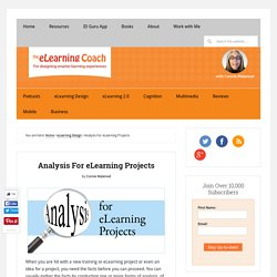 Analysis For eLearning Projects