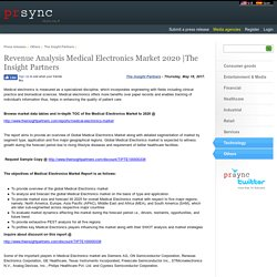 Revenue Analysis Medical Electronics Market 2020