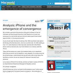Analysis: iPhone and the emergence of convergence