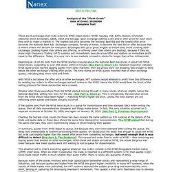 Flash Crash Analysis - May 6'th 2010 - Part 1 - Empirical Analysis - Answers - Nanex