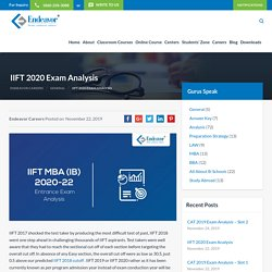 IIFT 2020 Exam Analysis by Endeavor for admissions into IIFT MBA (IB) 2020-22 program for its Delhi and Kolkata campus