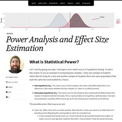 Power Analysis and Effect Size Estimation – Mining the Details