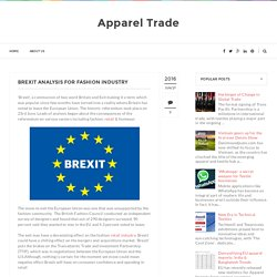 Brexit Analysis for Fashion Industry