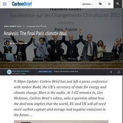 Analysis: The final Paris climate deal
