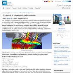 CFD Analysis for Engine Design: Fuelling innovation