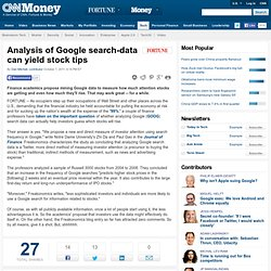 Analysis of Google search-data can yield stock tips