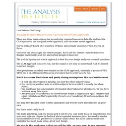 The Analysis Institute - Making Statistics Make Sense