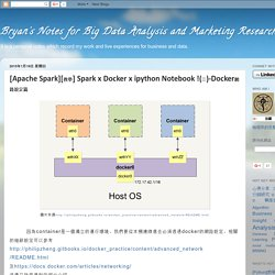 Bryan's Notes for Big Data Analysis and Marketing Research: [Apache Spark][教學] Spark x Docker x ipython Notebook !(三)-Docker網路設定篇