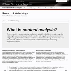 Content Analysis Methodology & Prominent Scholars
