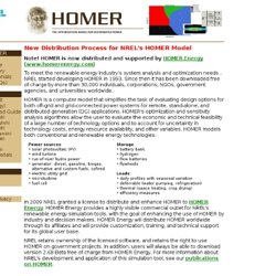 HOMER - Analysis of micropower system options