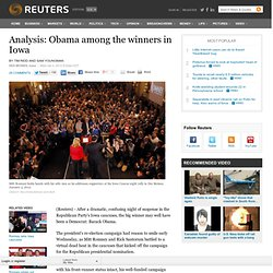 Analysis: Obama among the winners in Iowa