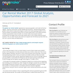 Car Rental Market 2017 Global Analysis, Opportunities and Forecast to 2021