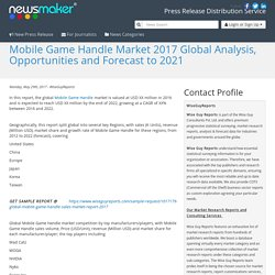 Mobile Game Handle Market 2017 Global Analysis, Opportunities and Forecast to 2021