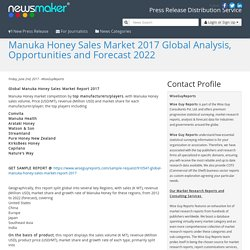 Manuka Honey Sales Market 2017 Global Analysis, Opportunities and Forecast 2022