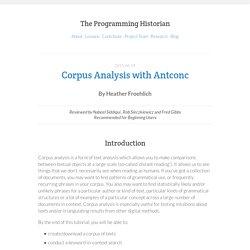 Corpus Analysis with Antconc