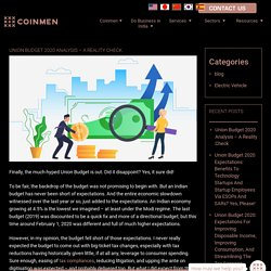 Union Budget 2020 Analysis – A Reality Check - Coinmen Consultants