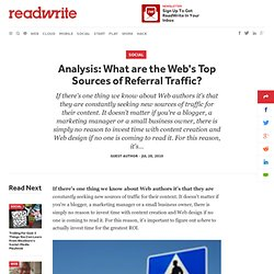 Analysis: What are the Web's Top Sources of Referral Traffic?