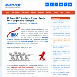10 Free SEO Analysis Report Tools For Competitor Analysis