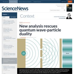 New analysis rescues quantum wave-particle duality
