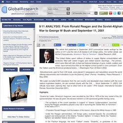 9/11 ANALYSIS: From Ronald Reagan and the Soviet-Afghan War to George W Bush and September 11, 2001