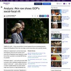 Analysis: Akin row shows GOP's social-fiscal rift