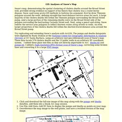 GIS analysis of Snow's London cholera map