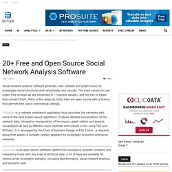 20+ Free and Open Source Social Network Analysis Software - Butler Analytics