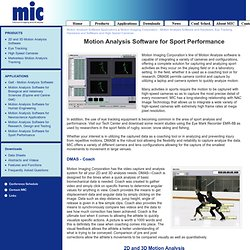 Motion Imaging and Analysis- Motion Analysis Software and Hardware ; MIC Motion Imaging and Analysis