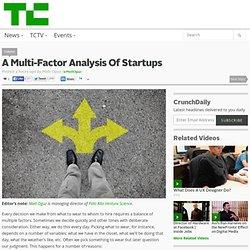 A Multi-Factor Analysis Of Startups