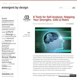 8 Tools for Self-Analysis: Mapping Your Strengths, Gifts & Roles