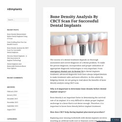 Bone Density Analysis By CBCT Scan For Successful Dental Implants