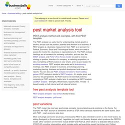 free PEST market analysis template and method, free pest market analysis examples