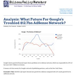 Analysis: What Future For Google's Troubled $12.7bn AdSense Network? -SVW