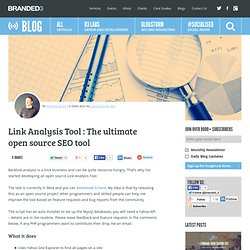 Link Analysis Tool : The ultimate open source SEO tool