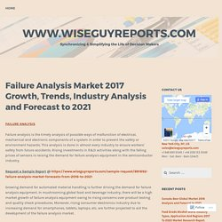 Failure Analysis Market 2017 Growth, Trends, Industry Analysis and Forecast to 2021 – www.wiseguyreports.com