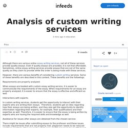 Analysis of custom writing services by /u/giselle
