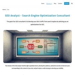 SEO Analyst - Increase Traffic -Freelance SEO Expert Service